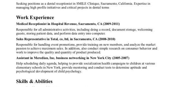 medical office receptionist resume resume for your job application ...
