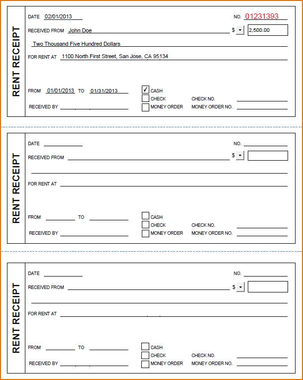 3+ printable receipt forms | Printable Receipt