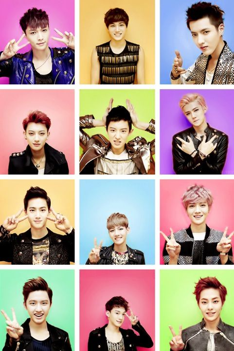 Learn exo names and faces