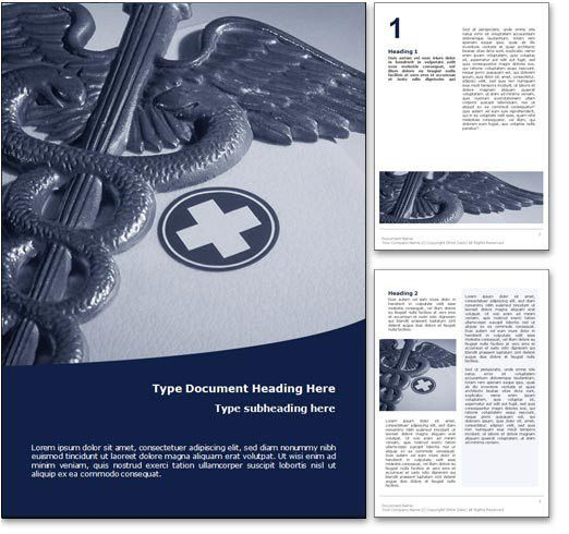 Royalty Free Medicine Microsoft Word Template In Blue