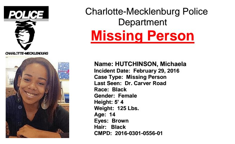 UPDATE: Missing Teen Found Safe - WCCB Charlotte