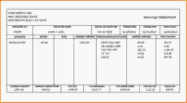 15+ check stub template free | Loan Application Form