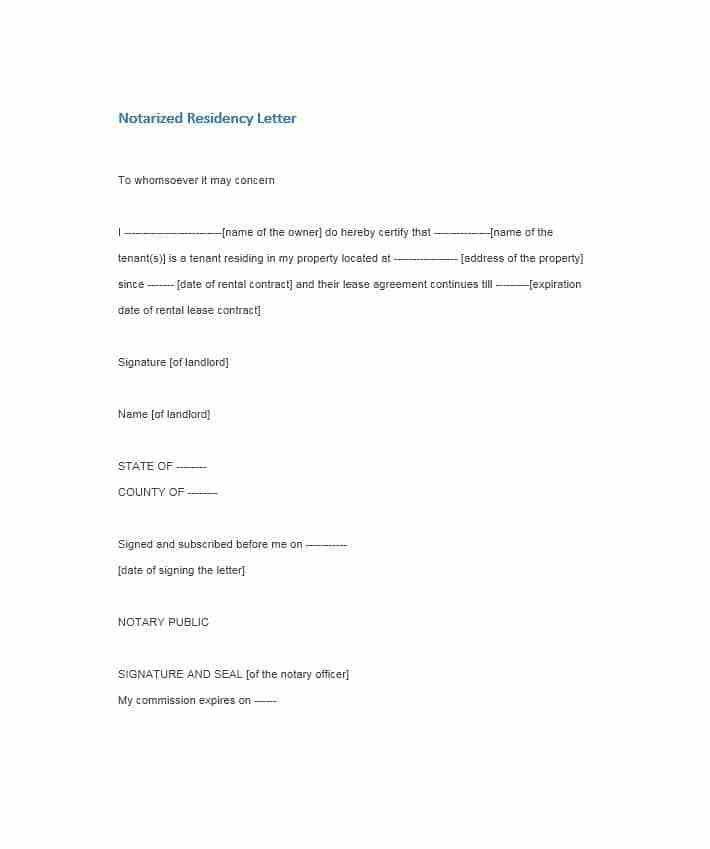 Notary template notarized letter templates 27 free sample example 30 professional notarized letter templates template lab pronofoot35fo Image collections