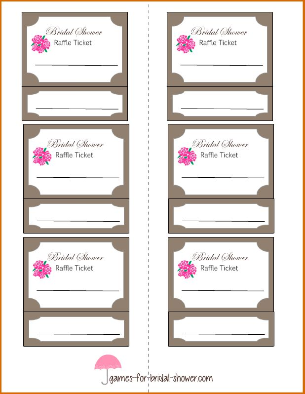 6+ raffle tickets template | Authorizationletters.org