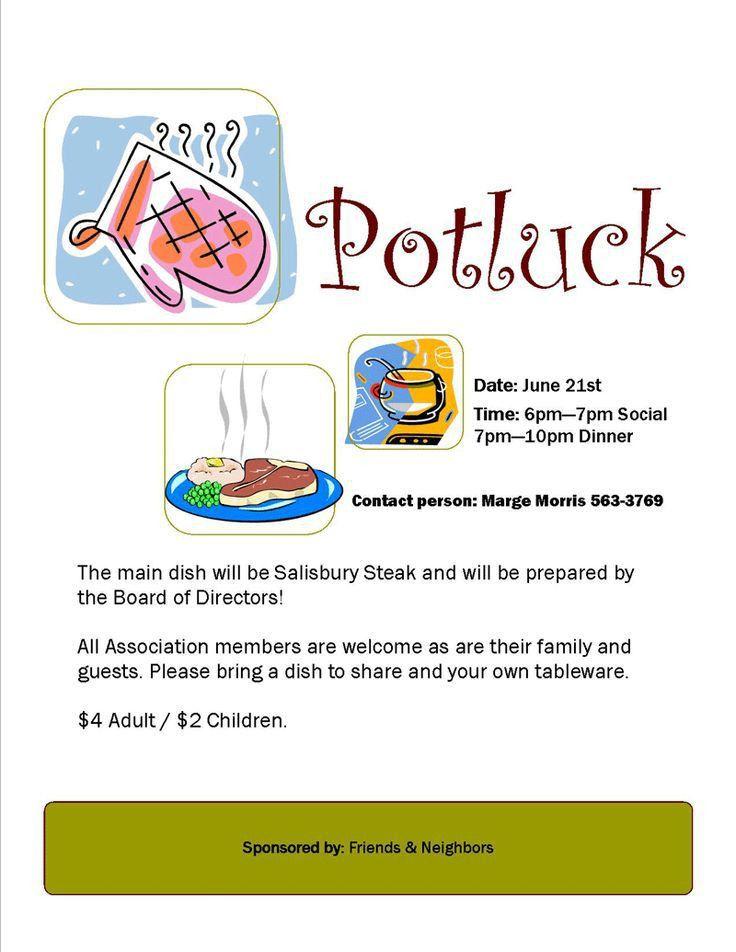 7 best Pot-Luck Theme Ideas images on Pinterest   Potluck ideas ...