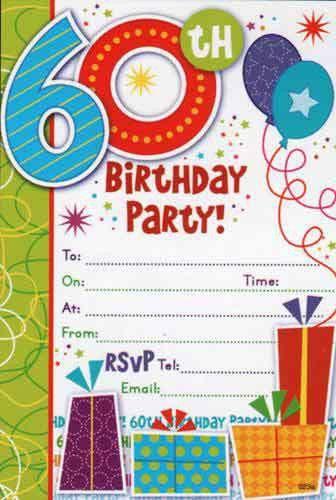 Free Printable 60th Birthday Invitations – Bagvania FREE Printable ...