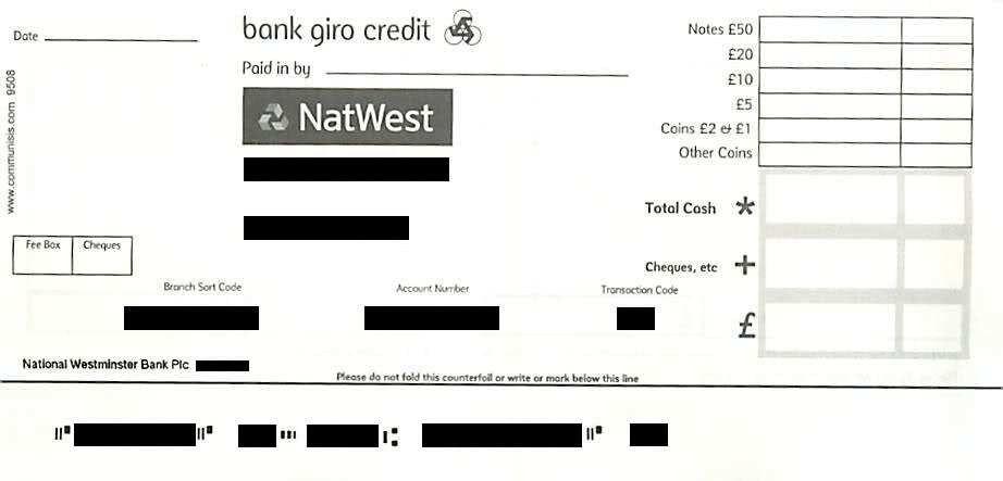 NatWest Paying In Slips - MoneySavingExpert.com Forums