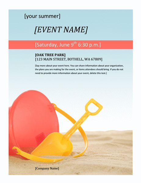 Event flyer (Summer) - Office Templates