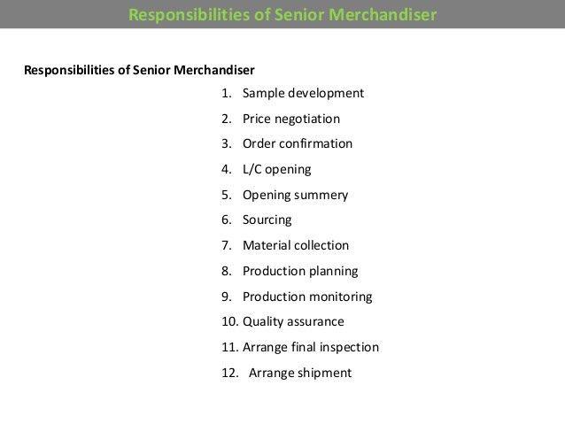 Basic knowledge for merchandising
