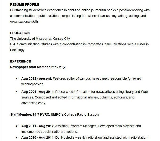 Radio Jockey Resume - Ecordura.com