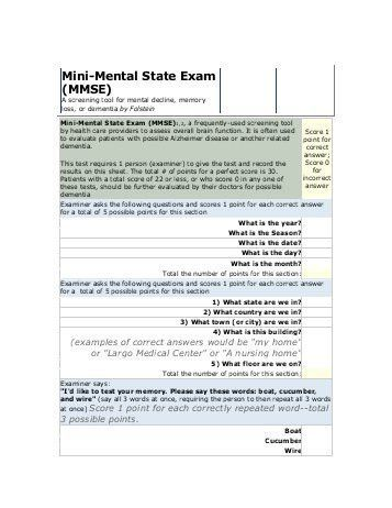Mental Status Exam - MTM Services