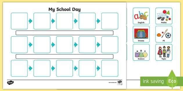 Individuals Visual Timetable Template - individual, visual