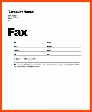 fax cover sheet template | program format
