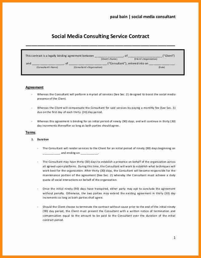 Consulting Service Agreement. Sample Consulting Agreement Contract ...