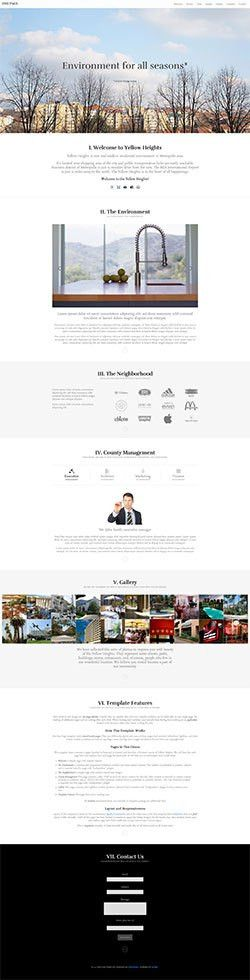 One Page Template - HotThemes