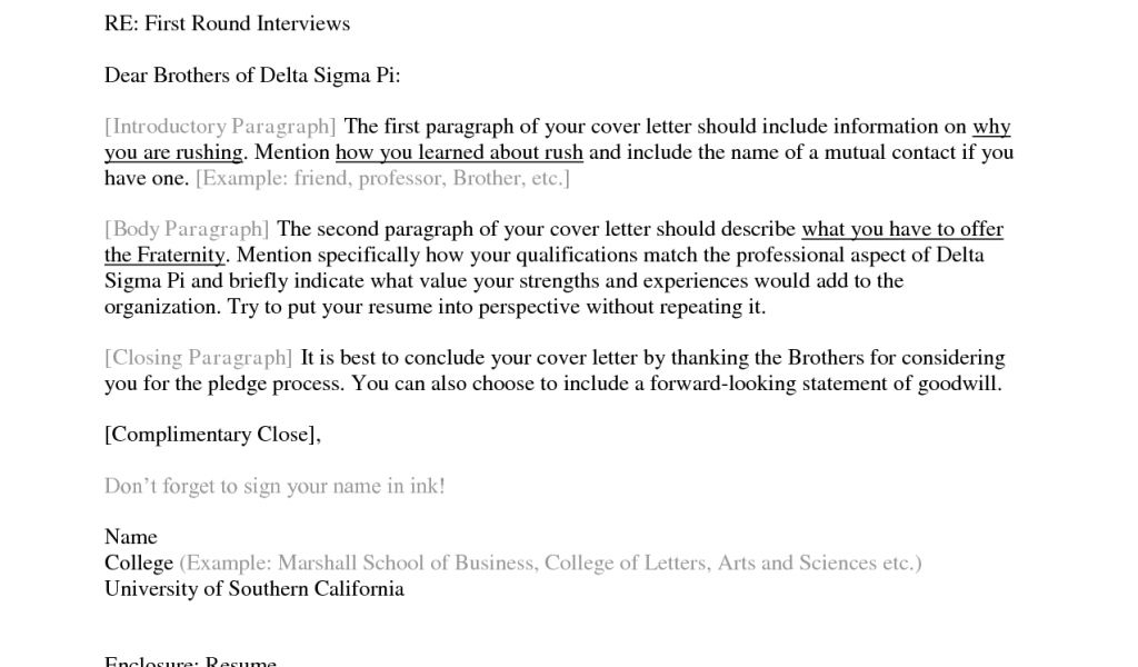 What Should A Good Cover Letter Include Download What Should A