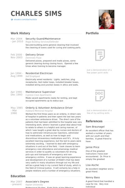 Security Guard Resume samples - VisualCV resume samples database