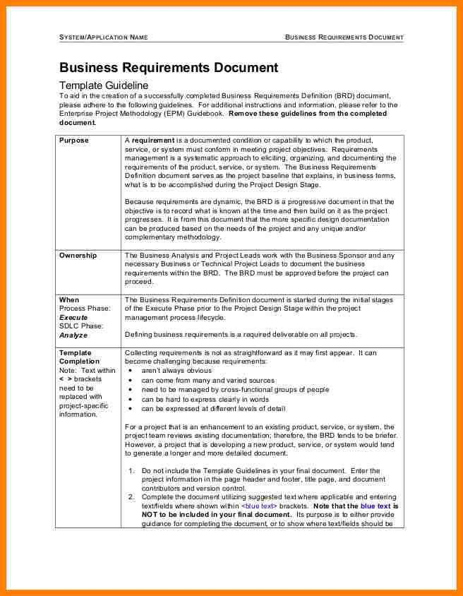 10+ business requirements document template | farmer resume