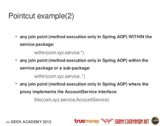 Spring framework aop