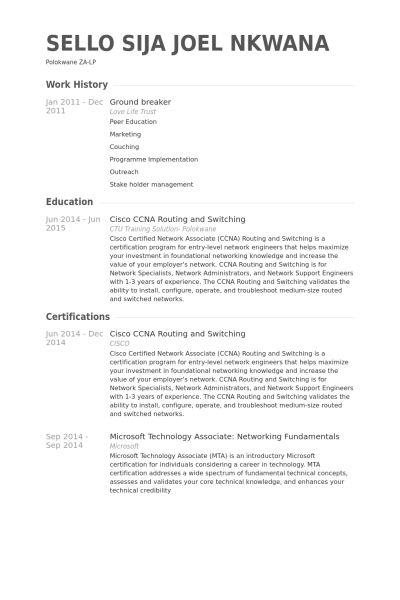 network administrator resume objective network administrator