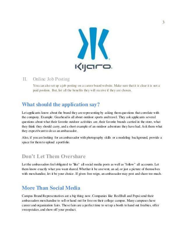 Kijaro Brand Ambassador Proposal
