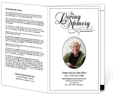 Funeral Pamphlet Template Free. a free to download funeral program ...
