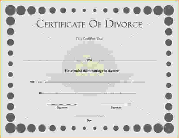 Fake Divorce Papers Template.Certificate Of Divorce Thumb.jpg ...