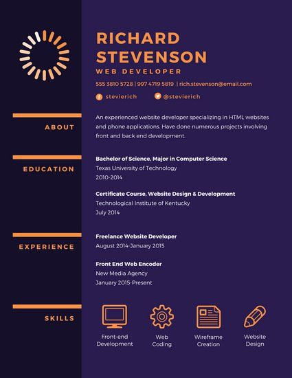 Web Development Resume [Template.billybullock.us ]