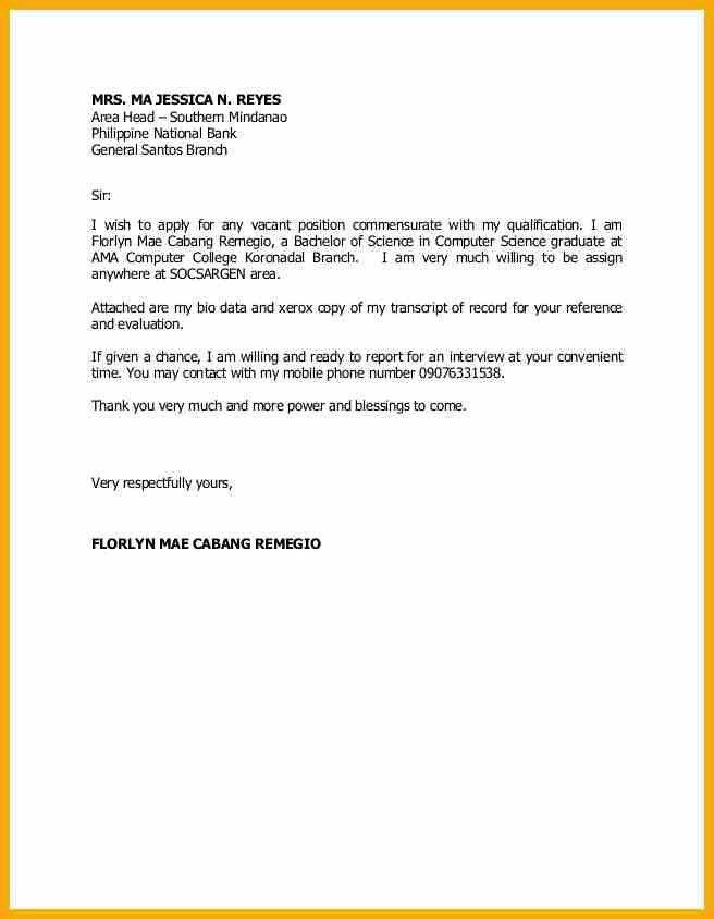 6+ application letter sample for any position | bursary cover letter