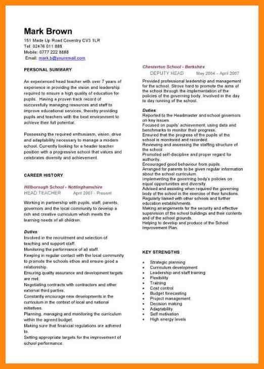 Curriculum Vitae Example. Curriculum Vitae Sample Format For ...