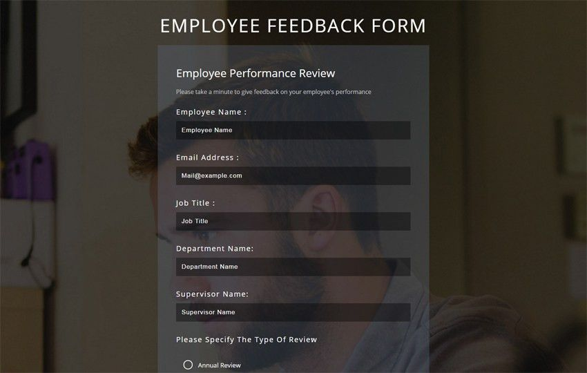 Employee Feedback Form a Flat Responsive Widget Template.