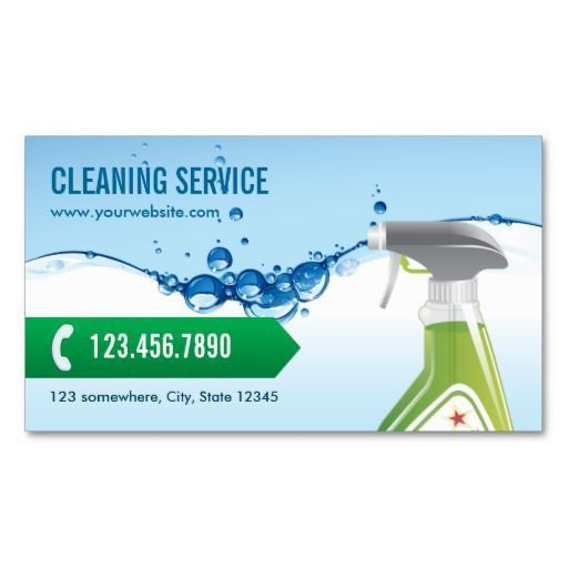 Blue Water Bubbles Cleaning Service Business Card | Cleaning ...