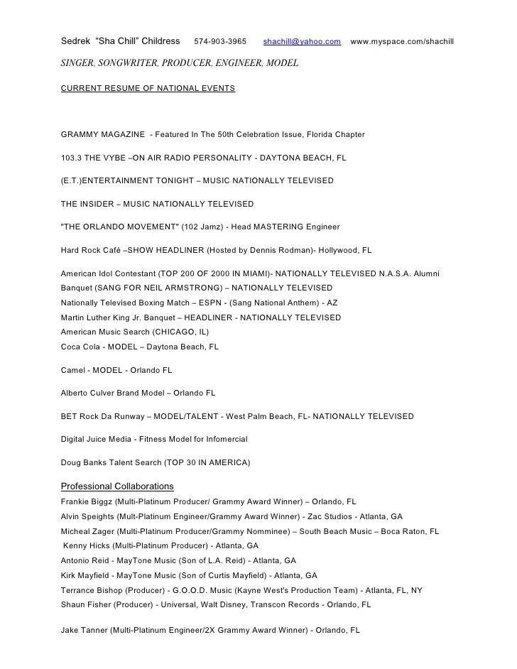 music industry resume sample music industry executive free resume