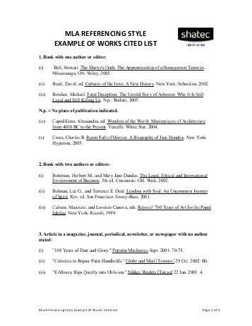 MLA Works Cited Format & Examples - SchoolRack