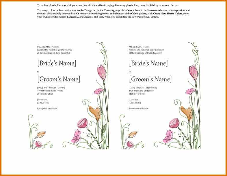 microsoft word wedding invitation templatesReference Letters Words ...