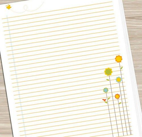 Printable Notebook Paper - Flowers | JUST PRINT and PUNCH! I… | Flickr