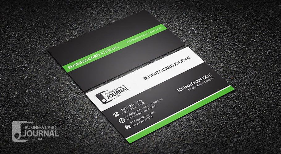 Clean & Professional Corporate Business Card Design