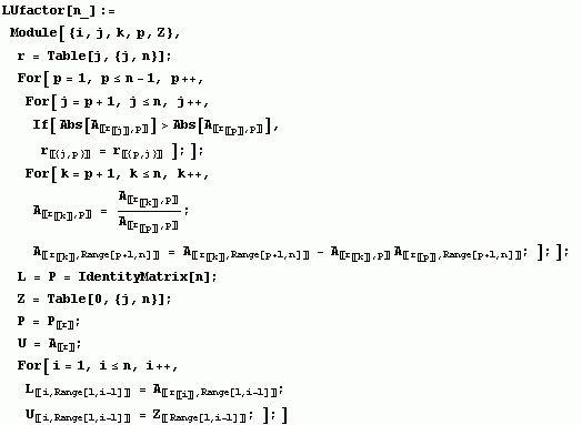 PA = LU Factorization with Pivoting