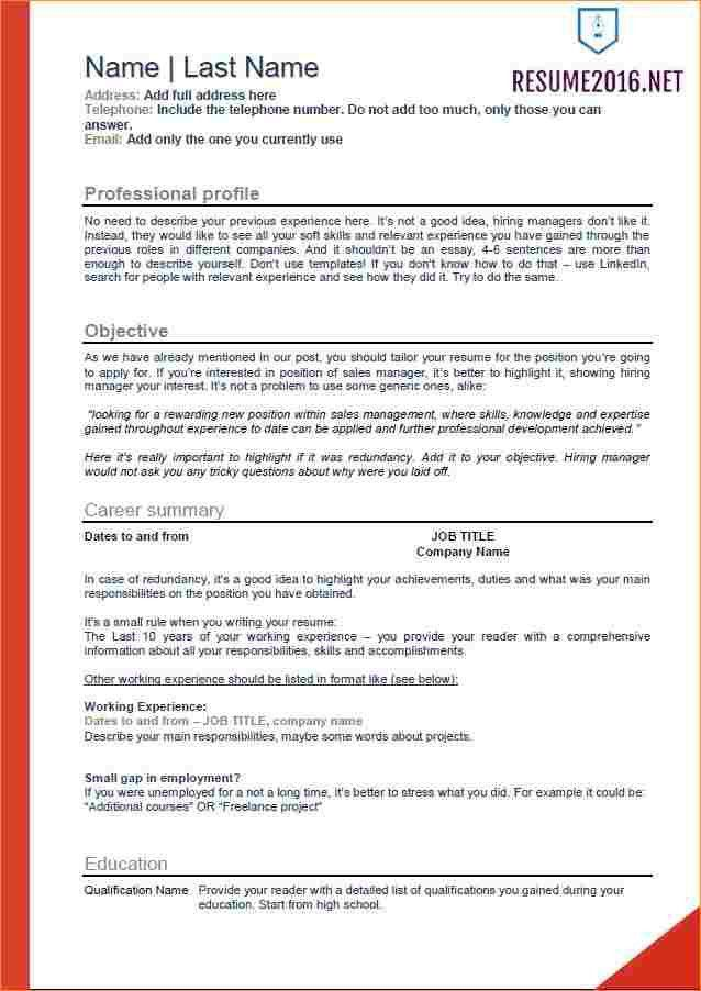 2016 resume examples - Business Proposal Templated - Business ...