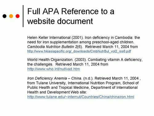 How Do You Reference A Website In Apa Format - Cover Letter Templates