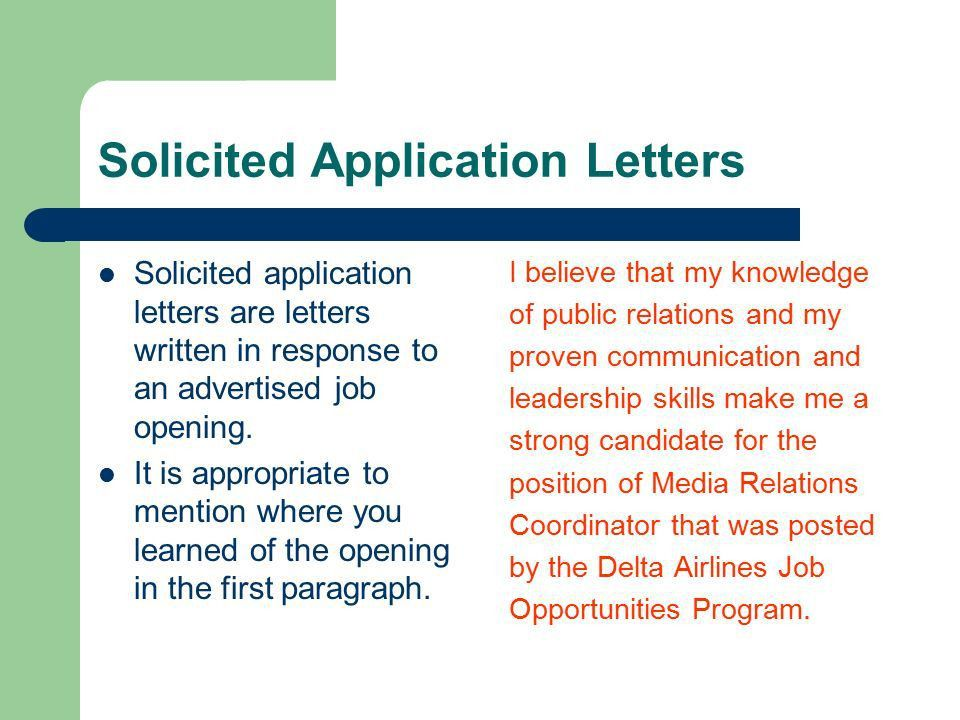Cover Letters Objective: To learn how to create an effective cover ...