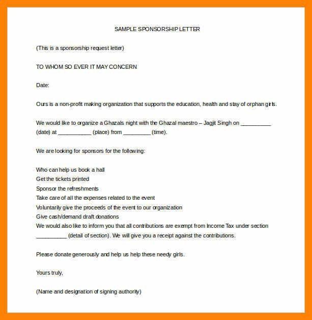 5+ sample sponsorship letter | rn cover letter