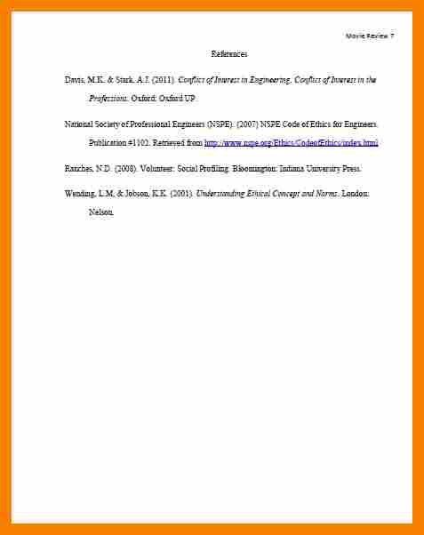 Reference Paper Example.Sample Resume References Page With Sales ...