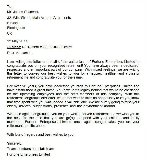Retirement Letter To Employer Uk - Mediafoxstudio.com