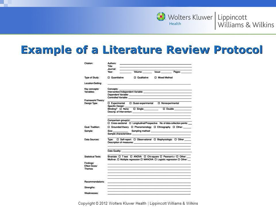 Literature review of multiple sources