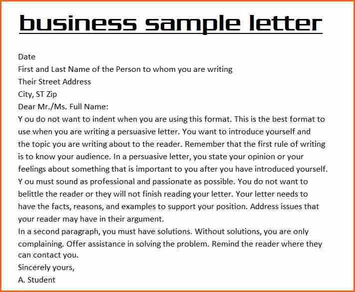 6 business letter example - Budget Template Letter