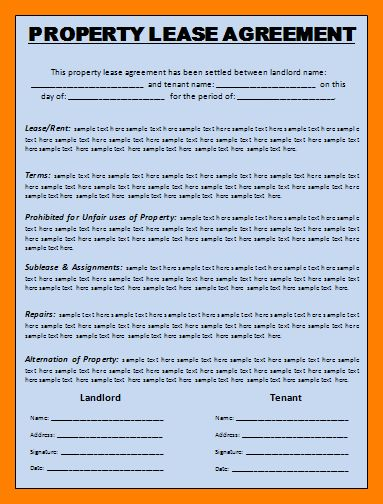 Best Simple Commercial Lease Agreement Template Gallery - Best ...