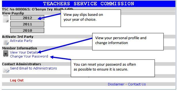 TSC official portal: Online Payslips for Teachers, Registration ...