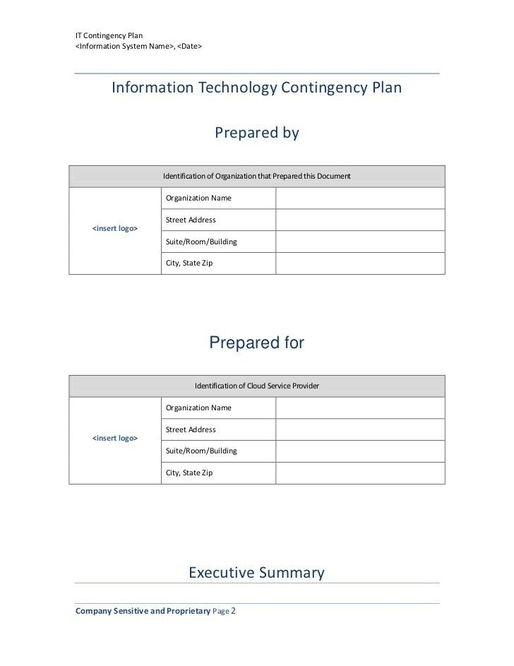 Emergency Contingency Plan Template - Contegri.com