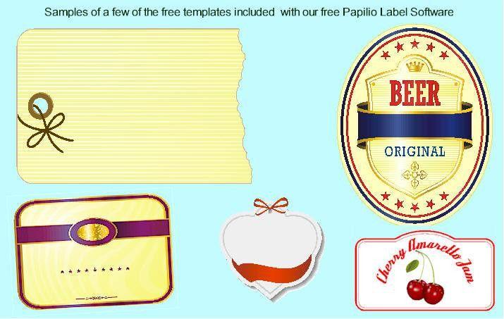 Papilio Custom Label Templates